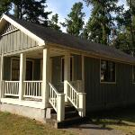 2 bdrm, 1 bath cabin with deck and porch