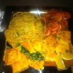Linguini Lobster Bisque, Crab Raviolis, Fresh Local Prawns