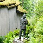 Statue of Edvard Grieg at Troldhaugen
