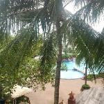 view from room over one of the pools