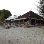 Vue du bar depuis la plage