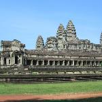Angkor Wat is a Hindu temple which was built by King Suriyavarman 2 in hornor of God Vishnu.