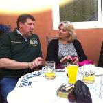 the Burgermeister chatting with my wife, really nice chap