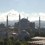 Great view of the Blue Mosque from the terrace
