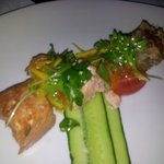 Our starter of salmon three ways