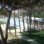 Ecco la piscina dalla mia camera