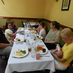 Family enjoying lunch at the Old Erie