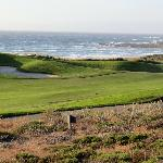 Great views over Spanish Bay and its golf links!