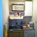 this is the closet transform into a kitchen