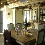 Another view of the dining room in the morning