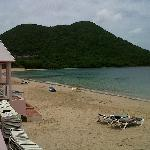 St Lucian's fabulous beach front location