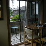 Dining area and balcony