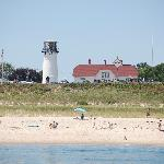 The Chatham Light watches over sun bathers