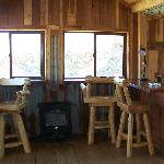 Dining area adjoining kitchen at Hill st. Cabin