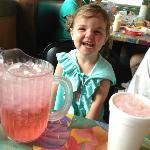 Her pink sprite by an awesome waitress!