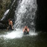 3-4 foot depth in the falls
