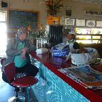 Barstools at the counter.