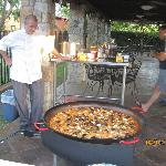 Making of the paella