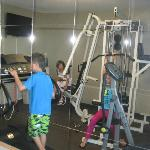kids thought they needed to get in shape with exercise room