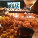 fried calamari and dirty martini