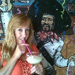 Having Margarita at Taco N Taquila (not the big 48oz sorry!)