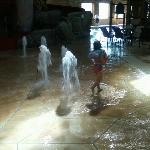 little ones love the floor fountains