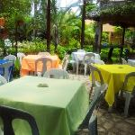 Atrium open air dining room