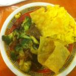 Beef and Broccoli Thursday lunch special with wonton