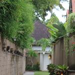 walk way to Villas