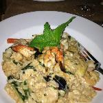 Lime shrimp and seafood risotto