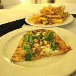Chefs Flatbread with Truffle Fries! Delicious!