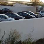 vue sur la parking