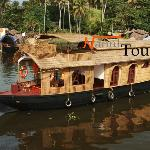 houseboat with upper deck
