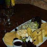 House wine plus cheese plate, YUM!!