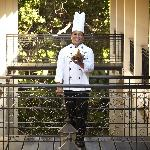 Chef Vibol at the hotel alley