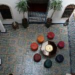 Cool relaxing interior courtyard
