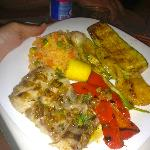 Grilled Fresh Fish with grilled vegies and fruits!