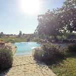 Vue de la piscine a debordement