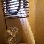 Notre arrangement pour climatiser un peu la cabine