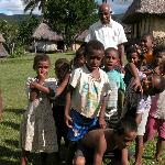 Our guide [from guest house] with the kids