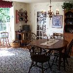 A hot Breakfast is served in the dining room
