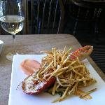 Lobster and chips at lunch