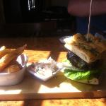 rump steak burger