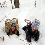 hundreads of arces of snowshoeing & hiking