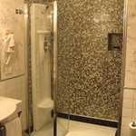 Bathroom also is a good size, with hydro massage shower