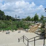 Lower section of Greenway with seating area