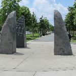 Monolith Art on the path