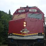 Train stopped at Agawa Canyon