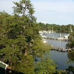 Side View of Marina From Side Window