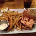 bacon blue cheese burger. wow!